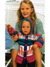 Llama Andean hooded baby/ toddler jacket