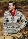 Very chunky zip reindeer cardigan