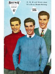 Men's wide fancy ribbed jumpers with 3 necklines