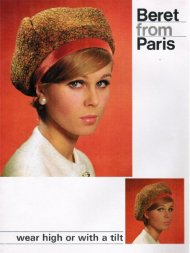 """Beret from Paris"" Jean Shrimpton style"