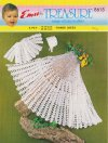 Delicate crochet shawl, matinee coat & hat in 3 ply