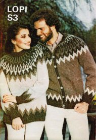Icelandic ski style jumper and cardigan