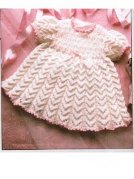 Pretty baby dress with smock effect yoke