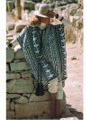 Striking Mexican/ Andean patterned poncho wrap