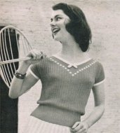 Pretty summer top from the 1950's