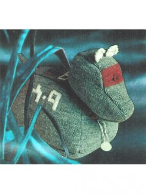 Vintage Doctor Who K9 toy knitting pattern
