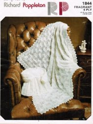 Knitted christening shawl & matinee coat