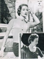 Classic 50's fitted cardigans, hand or machine knit