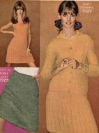 Chosen by Jean Shrimpton dress & cardigan suit + skirt