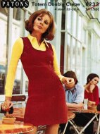 Tank style 60's pinafore short dress
