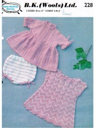 2 delightful baby dresses and knickers