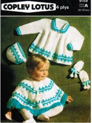 Baby crochet poncho, coat hat & mitts set.