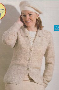 Classic smart fitted cardigan with waistcoat styling