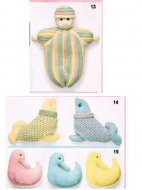 Set of baby toys - doll, ducks, seals