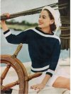 Easy dolman sleeve sailor style jumper by Vogue