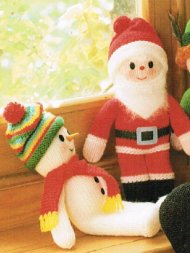 2 Christmas toys- Father Christmas and snowman