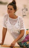 Pretty butterfly pattern crochet summer top