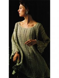 Flared crochet tunic or evening top