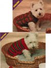 2 dog coats, 1 knit, 1 crochet