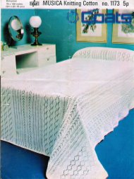 Knitted lace double bedspread