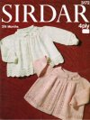 2 traditional baby yoke style cardigans