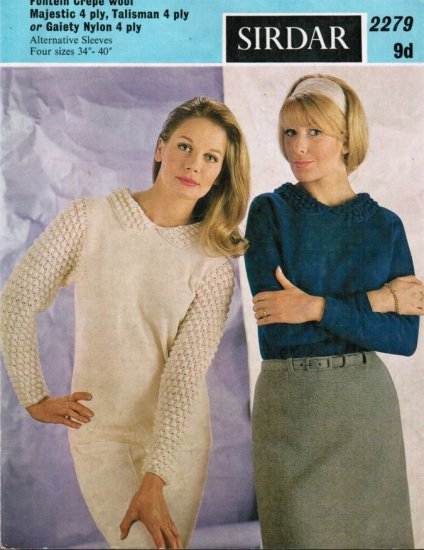 Blackberry stitch sleeves & collar jumper - Click Image to Close