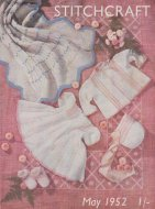 Sweet baby layette and cot blanket from 1952