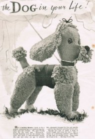Poodle dog toy - charming vintage detail