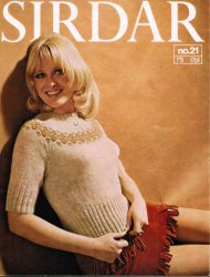 Cute little 60's top with fair isle yoke