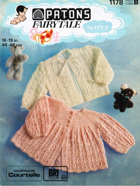 Knitting Pattern Baby Cardigan 8 Ply : Beautiful baby cardigans in 3 & 4 ply