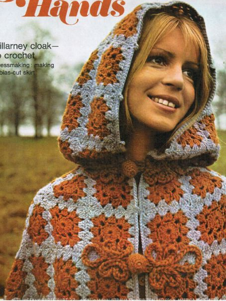 Shawls  Hooded Cape Knit Crochet Patterns Popcorn Lace Filet Peasant