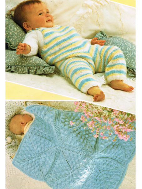 Baby blanket and dungarees with jumper set