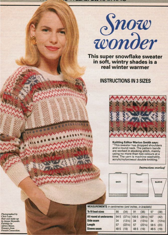 Snowflake Pattern Fair Isle Jumper 811 175 Patterns Galore