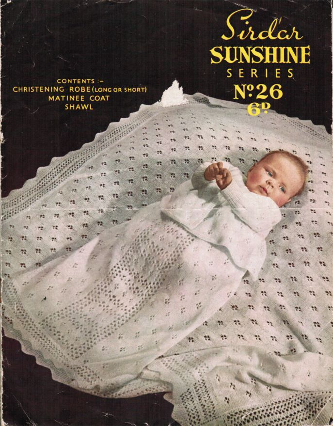 Christening Shawl Knitting Pattern Free : Crochet 3 ply baby christening shawl [107] - ?1.75 : Patterns Galore, Vintage...